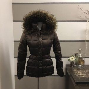 Calvin Klein Chocolate Ombre' Puffer Jacket